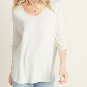 Old Navy Long sleeve, V-neck luxe top